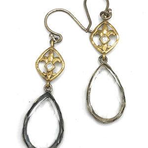 W2374 Silpada Sterling Silver RAINDROP Earrings